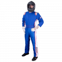Velocity Race Gear - Velocity 5 Patriot Suit - Blue/White/Red - Large - Image 2