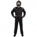 Velocity Race Gear - Velocity 5 Race Suit - Black/Blue - Medium/Large - Image 2