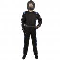 Velocity Race Gear - Velocity 5 Race Suit - Black/Blue - Medium/Large - Image 3