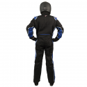 Velocity Race Gear - Velocity 5 Race Suit - Black/Blue - Medium/Large - Image 4