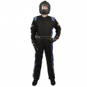 Velocity Race Gear - Velocity 5 Race Suit - Black/Blue - Small - Image 3
