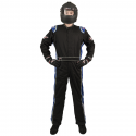 Velocity Race Gear - Velocity 5 Race Suit - Black/Blue - XX-Large - Image 2
