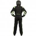 Velocity Race Gear - Velocity 5 Race Suit - Black/Fluo Green - Large - Image 4