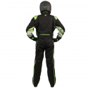 Velocity Race Gear - Velocity 5 Race Suit - Black/Fluo Green - Medium/Large - Image 4