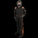 Velocity Race Gear - Velocity 5 Race Suit - Black/Fluo Orange - Medium - Image 1