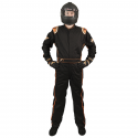 Velocity Race Gear - Velocity 5 Race Suit - Black/Fluo Orange - Medium/Large - Image 2