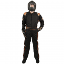 Velocity Race Gear - Velocity 5 Race Suit - Black/Fluo Orange - Medium/Large - Image 3