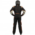 Velocity Race Gear - Velocity 5 Race Suit - Black/Fluo Orange - Small - Image 4