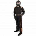 Velocity Race Gear - Velocity 5 Race Suit - Black/Fluo Orange - X-Large - Image 1