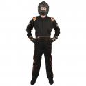 Velocity Race Gear - Velocity 5 Race Suit - Black/Fluo Orange - X-Large - Image 2