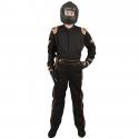 Velocity Race Gear - Velocity 5 Race Suit - Black/Fluo Orange - X-Large - Image 3