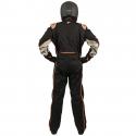 Velocity Race Gear - Velocity 5 Race Suit - Black/Fluo Orange - X-Large - Image 4