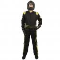 Velocity Race Gear - Velocity 5 Race Suit - Black/Fluo Yellow - Small - Image 3