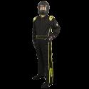 Velocity Race Gear - Velocity 5 Race Suit - Black/Fluo Yellow - X-Large - Image 1
