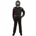 Velocity Race Gear - Velocity 5 Race Suit - Black/Red - Medium - Image 2