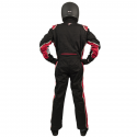 Velocity Race Gear - Velocity 5 Race Suit - Black/Red - Medium - Image 4