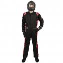 Velocity Race Gear - Velocity 5 Race Suit - Black/Red - Medium/Large - Image 2