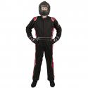 Velocity Race Gear - Velocity 5 Race Suit - Black/Red - Medium/Large - Image 3
