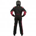 Velocity Race Gear - Velocity 5 Race Suit - Black/Red - Medium/Large - Image 4