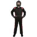 Velocity Race Gear - Velocity 5 Race Suit - Black/Red - Small - Image 3