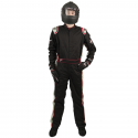 Velocity Race Gear - Velocity 5 Race Suit - Black/Silver - Large - Image 3