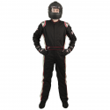 Velocity Race Gear - Velocity 5 Race Suit - Black/Silver - Medium - Image 2