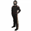Velocity Race Gear - Velocity 5 Race Suit - Black/Silver - Small - Image 1