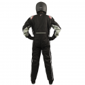 Velocity Race Gear - Velocity Outlaw Race Suit - Black/Silver/Red - Large - Image 4