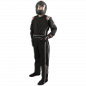 Velocity Race Gear - Velocity Outlaw Race Suit - Black/Silver/Red - Medium - Image 1