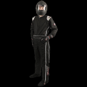 Velocity Race Gear - Velocity Outlaw Race Suit - Black/Silver/White - Large - Image 1