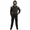 Velocity Race Gear - Velocity Outlaw Race Suit - Black/Silver/White - Large - Image 3