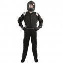 Velocity Race Gear - Velocity Outlaw Race Suit - Black/Silver/White - Medium/Large - Image 2