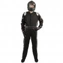 Velocity Race Gear - Velocity Outlaw Race Suit - Black/Silver/White - Medium/Large - Image 3