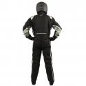 Velocity Race Gear - Velocity Outlaw Race Suit - Black/Silver/White - Medium/Large - Image 4