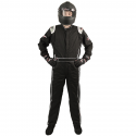 Velocity Race Gear - Velocity Outlaw Race Suit - Black/Silver/White - X-Large - Image 2