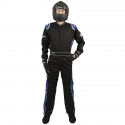 Velocity Race Gear - Velocity 1 Sport Suit - Black/Blue - Small - Image 3