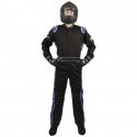 Velocity Race Gear - Velocity 1 Sport Suit - Black/Blue - XX-Large - Image 2