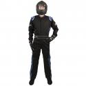 Velocity Race Gear - Velocity 1 Sport Suit - Black/Blue - XX-Large - Image 3