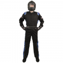 Velocity Race Gear - Velocity 1 Sport Suit - Black/Blue - XXX-Large - Image 2