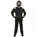 Velocity Race Gear - Velocity 1 Sport Suit - Black/Fluo Green - Medium/Large - Image 2