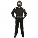 Velocity Race Gear - Velocity 1 Sport Suit - Black/Fluo Green - XX-Large - Image 2