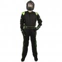 Velocity Race Gear - Velocity 1 Sport Suit - Black/Fluo Green - XX-Large - Image 3