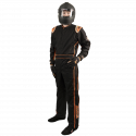 Featured Products - Velocity Race Gear - Velocity 1 Sport Suit - Black/Fluo Orange - X-Large