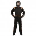Velocity Race Gear - Velocity 1 Sport Suit - Black/Fluo Orange - XXX-Large - Image 2