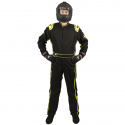 Velocity Race Gear - Velocity 1 Sport Suit - Black/Fluo Yellow - Large - Image 2
