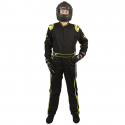 Velocity Race Gear - Velocity 1 Sport Suit - Black/Fluo Yellow - Large - Image 3