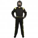 Velocity Race Gear - Velocity 1 Sport Suit - Black/Fluo Yellow - Medium/Large - Image 2