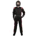 Velocity Race Gear - Velocity 1 Sport Suit - Black/Red - Medium - Image 3
