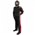 Velocity Race Gear - Velocity 1 Sport Suit - Black/Red - Medium/Large - Image 1