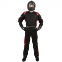 Velocity Race Gear - Velocity 1 Sport Suit - Black/Red - Small - Image 2